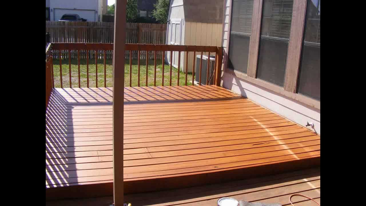 How To Sand Stain And Seal A 12x12 Pine Deck Using A Belt