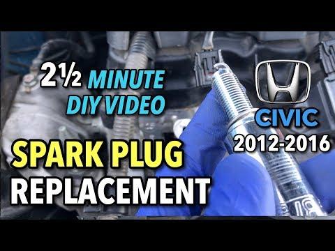 Honda Civic Spark Plug Replacement - 2012-2016 - 2 1/2 Minute DIY Video