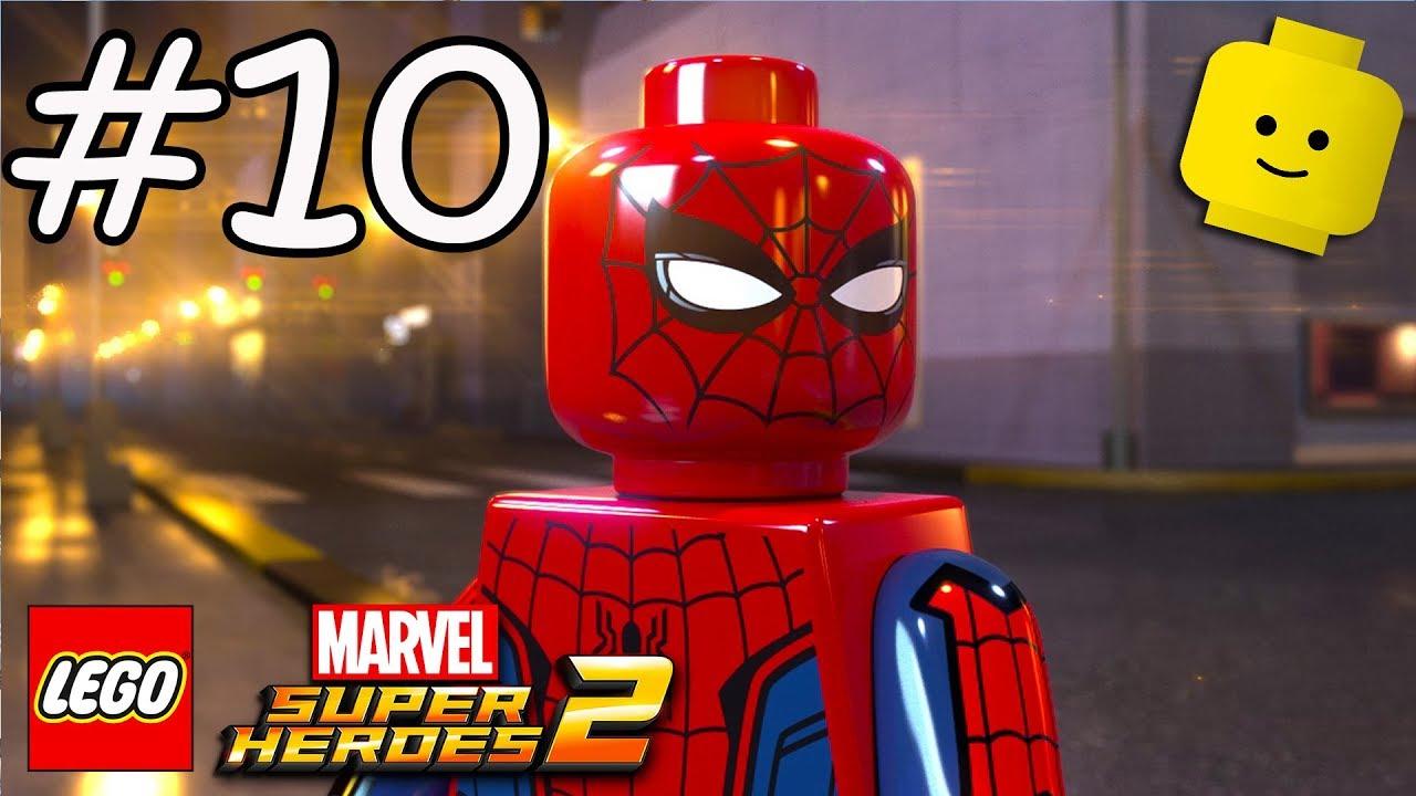 Spiderman Cartoon Game Videos For Kids Children Lego Marvel Superheroes 2 10 Youtube