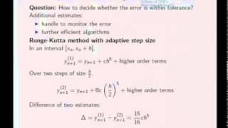 Mod-05 Lec-23 Numerical Solution of ODE's as IVP