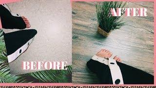 DIY WOOD FLOORS - MARBLE FLOORING SAME METHOD!! APARTMENT FRIENDLY