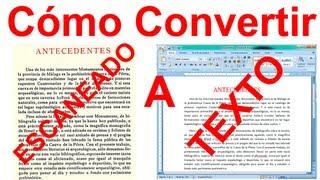 Como Convertir una Imagen ESCANEADA a Texto Word SIN Programas (Fácil)