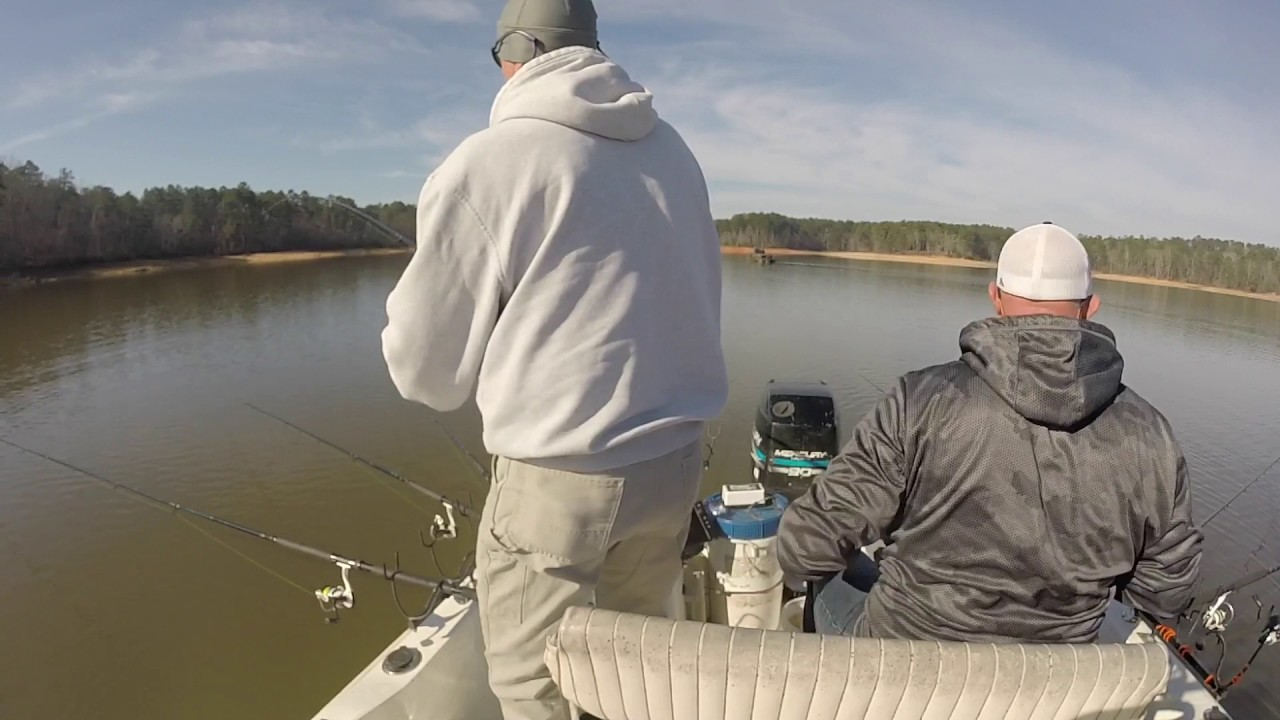 Clarks hill lake crappie fishing on 02 28 2017 youtube for Clarks hill lake fishing report