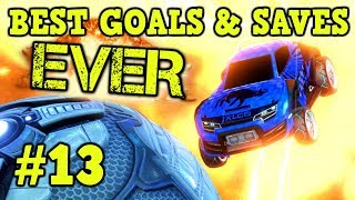Rocket League Montage: BEST GOALS & SAVES EVER #13 - Freestyle goals, dribbles & more [HD]