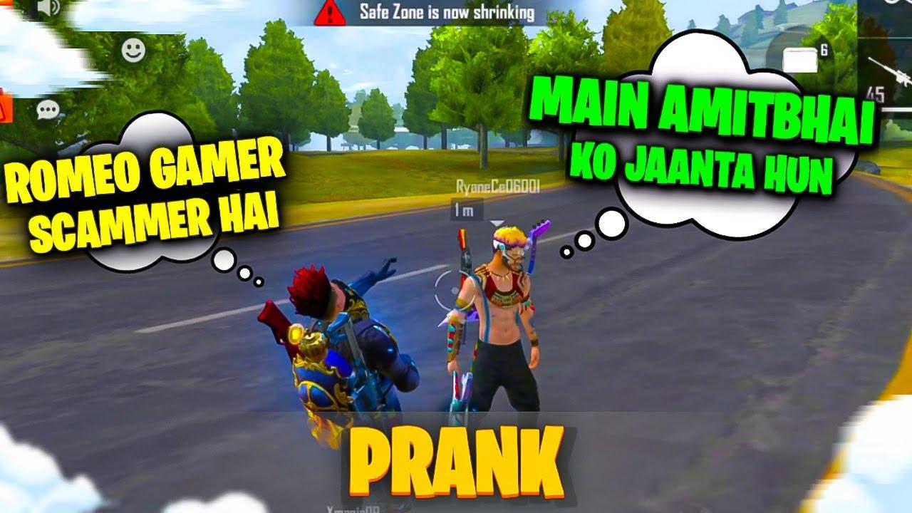 V Badge Scammer PRANK 🤣 With Random    Free Fire    Desi Gamers