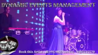 Singer Performer Sumedha Karmahe Live performance Indian Royal Big Fat Wedding Sangeet Event Indore