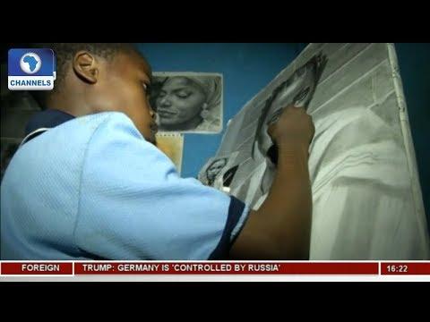 Young Hyper Realism Artist, Nigeria's Kareem Waris Gains Fame |Network Africa|