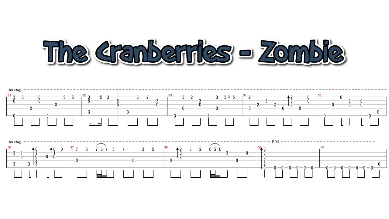 The Cranberries - Zombie (fingerstyle guitar cover) - YouTube