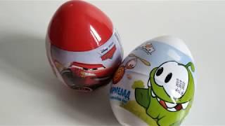ФИКСПРАЙС ИГРУШКИ яйца  ТАЧКИ и АМ НЯМ Что внутри? Какое лучше? Дешевые игрушки.