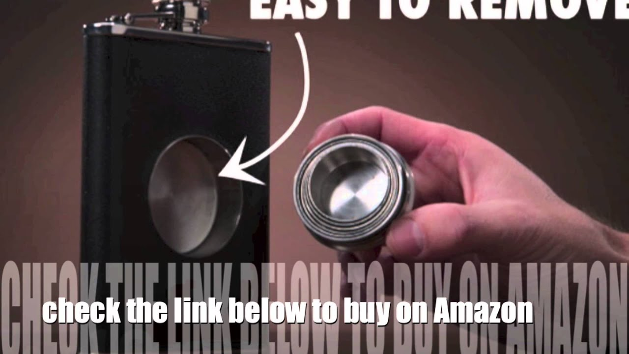 flask with build in shot glass best gift for men and women youtube