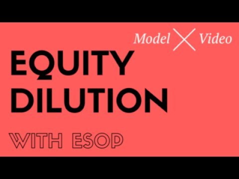 How does dilution at a startup for founders work with ESOP and investment from VC