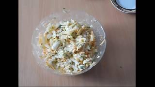 Вкусный сочный витаминный салат из пекинской капусты,