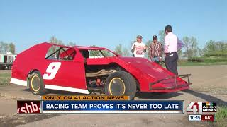 Racing team proves it's never too late