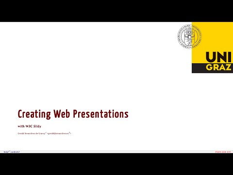 Creating Web Presentations with W3C Slidy
