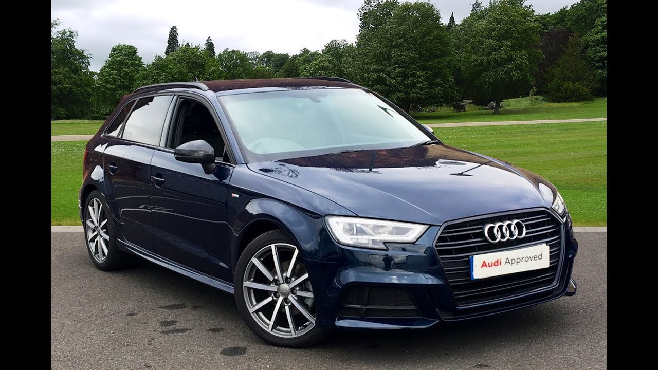oy17xnk audi a3 tdi s line black edition blue 2017 bradford audi youtube. Black Bedroom Furniture Sets. Home Design Ideas