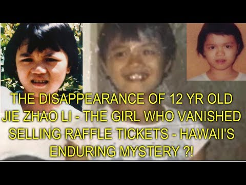 THE DISAPPEARANCE OF 12 YR OLD JIE ZHAO LI - THE GIRL WHO VANISHED SELLING RAFFLE TICKETS ?!