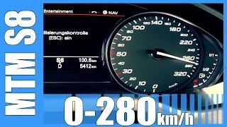 760 hp audi s8 rs8 acceleration 4 0 tfsi mtm insane 0 280 km h beschleunigung autobahn test
