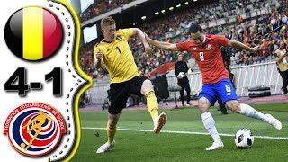 Belgica vs Costa Rica 4-1 Resumen Todos Los goles amistoso 11/06/2018 HD.