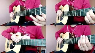 Очень красивая мелодия на гитаре из сериала кухня acapella(акапелло) ритм, бас, соло,перкуссия