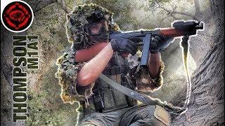 Airsoft Thompson M1A1 AEG Jungle Sniper Gameplay
