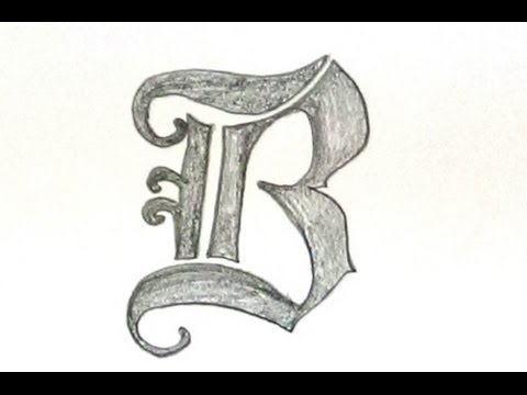 how to write letter b in old english font style unique designer