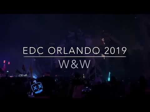 W&W Live Set at EDC ORLANDO 2019 - Main Stage Kinetic Field - 4K