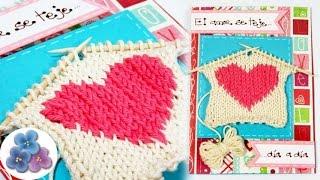 tarjetas de amor tarjetas para san valentin de punto con 2 agujas tutorial diy pintura facil