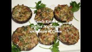 Stuffed Mushrooms With Bacon & Cheese
