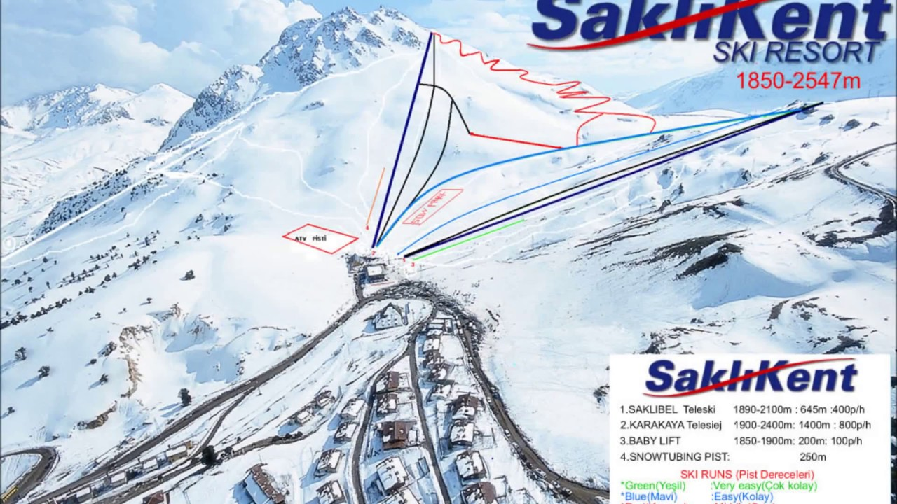 saklıkent ski resort 2017 - youtube