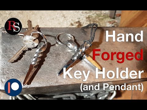 Making A Simple Hand Forged Key Holder / Keychain / Key Ring / Pendant - Blacksmithing