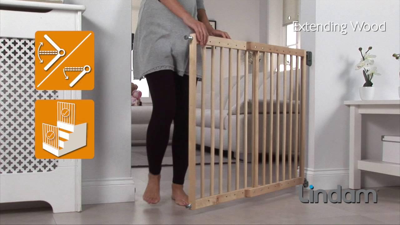 Wall Fix Extending Wooden Safety Gate