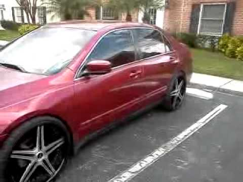 2004 honda accord 22 39 s lowered youtube. Black Bedroom Furniture Sets. Home Design Ideas