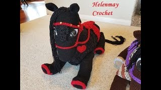 Helenmay Crochet Large Wild Mustang Horses and Unicorn Part 2 of 5 DIY Video Tutorial