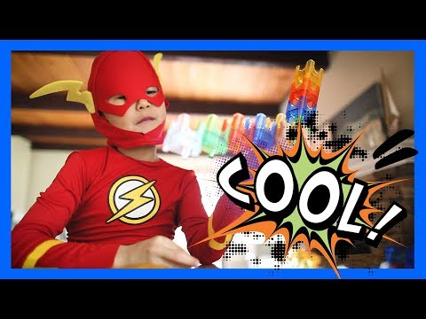 Kid Flash + Chewbacca Boy Build the Q-Ba-Maze 2.0 with SUPER SPEED!!!