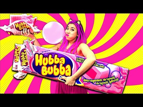 WOW! Giant Hubba Bubba Max Bubble Gum!!! So Funny! (CC Available)