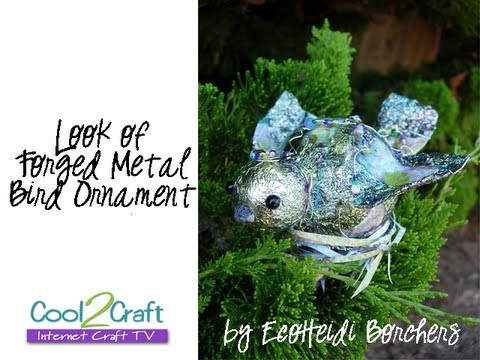 How to Make a Look of Forged Metal Bird Ornament by EcoHeidi Borchers