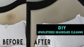 DIY| How to Clean An Upholstered Headboard