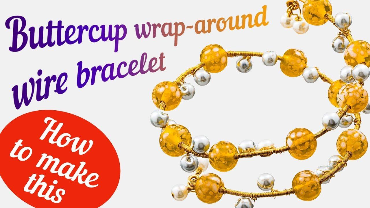 Wrap around wire bracelet