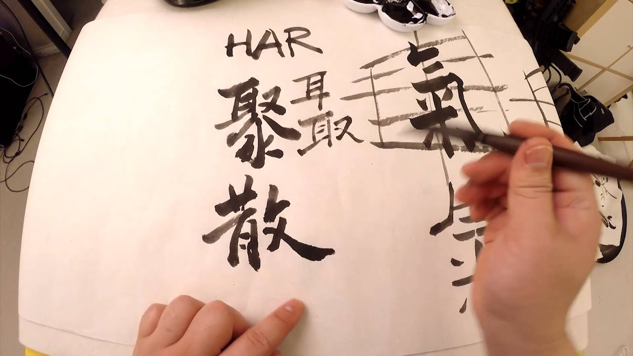 Easy chinese calligraphy secret to characters