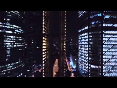 Estela de luz filmada con drone dji phantom 3