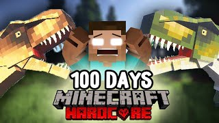 I Survived 100 Days Hardcore Minecraft in Jurassic Park and this is What Happened