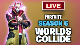[RAW STREAM] NARUTO SKIN GRIND! | Fortnite Battle Royale Season 5 Gameplay!
