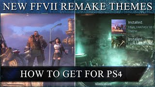 How to get two new Final Fantasy 7 Remake PS4 Dynamic Themes!