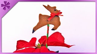 DIY Christmas decoration on a stick, reindeer (ENG Subtitles) - Speed up 162