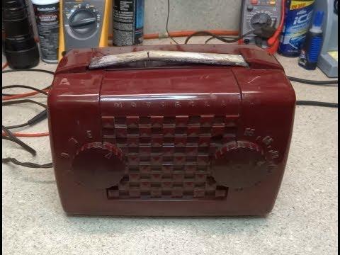 Repair Of A 1951 Motorola 51L2U Lunchbox Portable Tube Radio