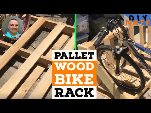 Wooden Pallet Bike Rack by DIY Nate - A quick and easy project!