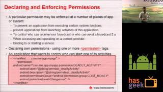 Android Platform Security - Concepts, Attacks, Guidelines