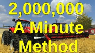 How to earn 2.000.000 Every Minute in Farming Simulator 2015 | PS4