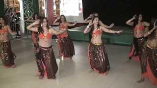 Dança do Ventre-Dança com Véus e Derbak - Noite no Oriente IV 2013 - Clube Monte Líbano