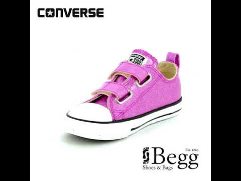 45a7b5c4c1a9 Converse All Star Ox Velcro Infants 760073C Pink Girls trainers ...